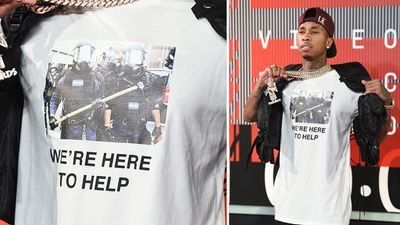 Rapper Tyga used the MTV VMAs to make a fashion statement of a different kind. (AAP)