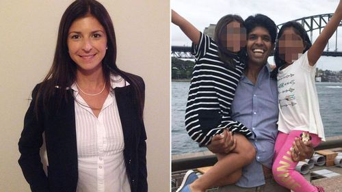 Ms Haddad and Santoro had been romantically and professionally linked for a decade. Ms Haddad died weeks after breaking off her relationship with the accused.