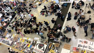 Mass protests crippled Hong Kong airport.