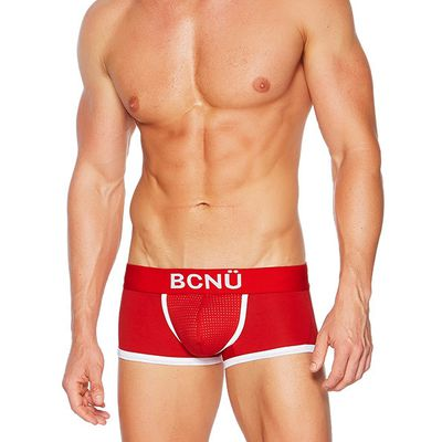 "<p>Former communications executive Paul Zack developed the fitness-inspired BCNÜ four years ago. ""Strong colour combinations, sporty styling and detail, and practical cuts designed for the active man, are all indicative of sports and lifestyle brand BCNÜ,"" Zack says.</p> <p><a href=""https://www.bcnuclothing.com/pulse-boxer-brief-red/"" target=""_blank"">BCNU</a> pulse boxer brief in red, $47.11</p>"