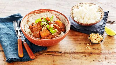"Recipe: <a href=""http://kitchen.nine.com.au/2017/06/13/09/21/curtis-stones-chicken-pumpkin-massaman-curry"" target=""_top"">Curtis Stone's chicken kabocha pumpkin curry</a>"