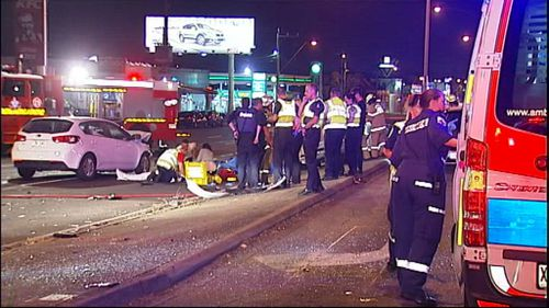 Three people died in the Melbourne crash. (9NEWS)