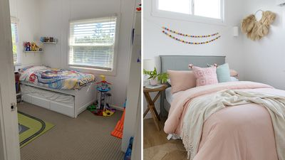 Girls' bedroom: Before and after