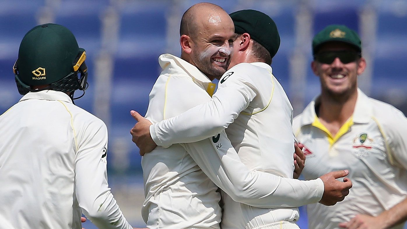 Aussie batsmen falter early after Lyon's heroics in second Test in Abu Dhabi