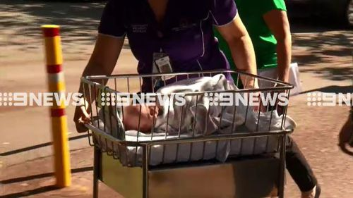 Newborn babies were rushed out of the hospital. (9NEWS)