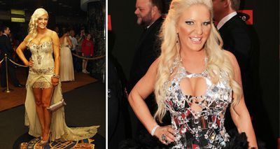 Brynne Edelsten never ceases to surprise guests with her wild outfits. (Getty/AAP)