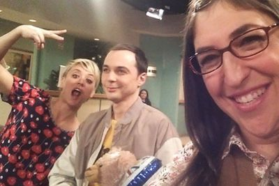 @missmayim: I love my job bc of @therealjimparsons and @normancook