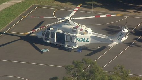 An air ambulance was dispatched to the scene to treat injured persons.