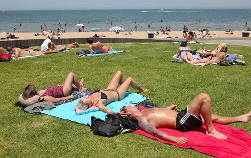 A total fire ban is in place with the people of Melbourne expecting temps in the 40s.