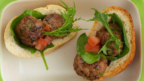 Kofta meatball rolls