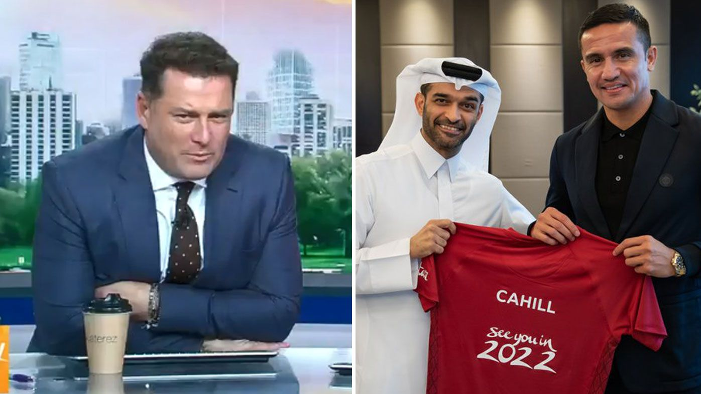 Karl Stefanovic questions Tim Cahill's controversial ambassador role for the 2022 World Cup