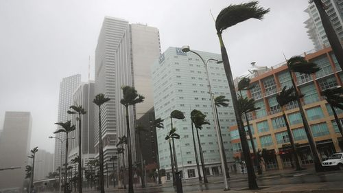 Streets in Miami are flooded. (AFP)