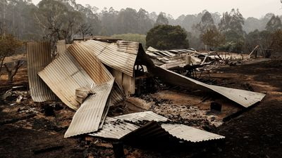 Houses destroyed