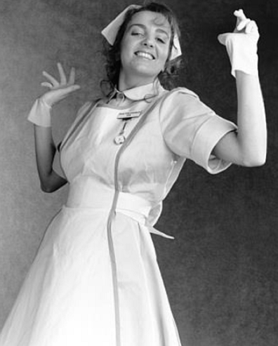 Jean Kittson as 'Nurse Pam Sandwich' on Let the Blood Run Free.