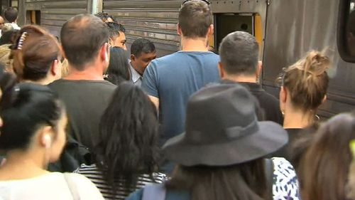 Commuters faced lengthy delays waiting for trains across the city yesterday. (9NEWS)