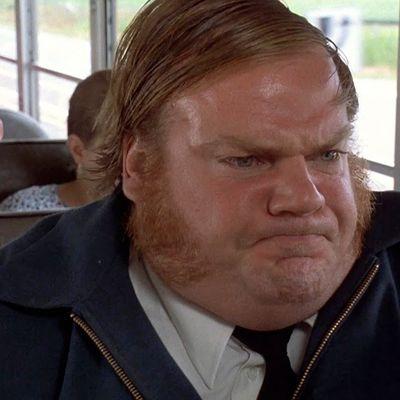 Chris Farley as Bus Driver: Then