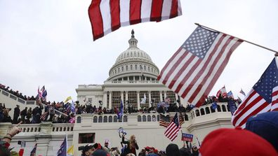 Supporters of President Donald Trump gather outside the US Capitol in Washington (Photo: January 6, 2021)