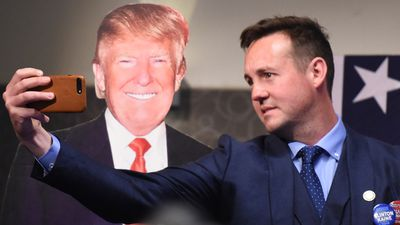 <p>A man takes a selfie with a Donald Trump cutout at a US Embassy event at Canberra's National Press Club.</p> <p>(AAP)</p> <p></p>