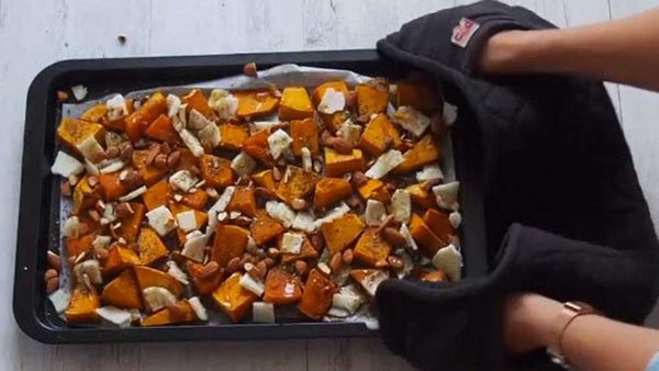 Lyndi Cohen's baked pumpkin and haloumi