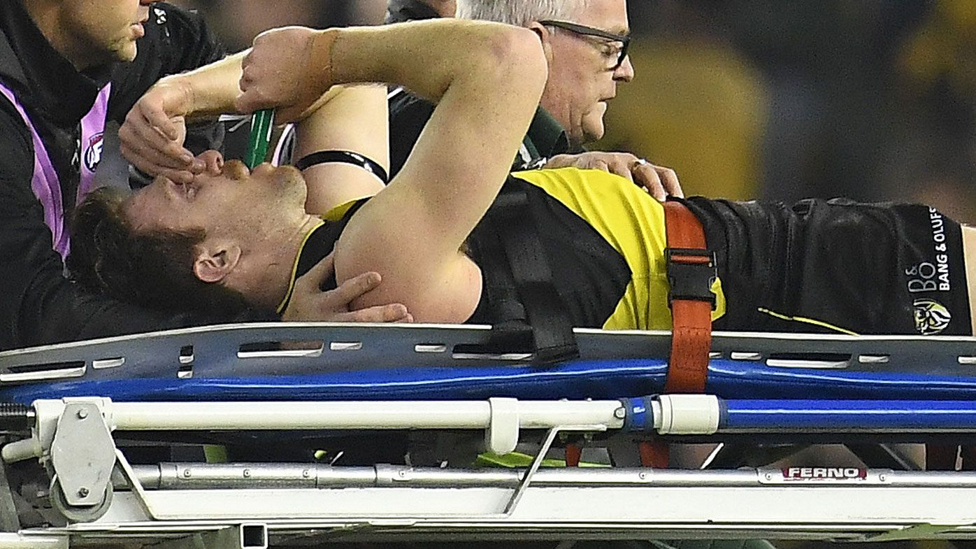Richmond star Reece Conca stretchered off following horror ankle injury