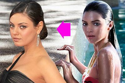 """At 16, Kendall was snapped for French fashion mag <i>Flavor</i>, and well, as gossip blogger Celebitchy puts it, """"In some of these shots she looks like herself, but in others she's photoshopped into this bizarre alien-looking Mila Kunis type.""""<br/>"""
