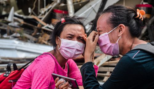 Survivors are getting desperate as aid is only starting to trickle through after the earthquake and tsunami.