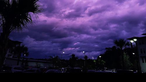 """Amy Pope-Latham says she watched on Wednesday as the sky outside her Jacksonville apartment transformed from gray clouds to a burnt orange to a """"beautiful violet that continued to become even more vibrant as minutes passed."""""""