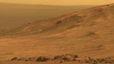 "One of the Mars Exploration Program's key goals is to determine the status of water on the ""Red Planet"". Read more at http://www.9news.com.au/technology/2015/03/26/15/05/nasa-releases-panoramic-image-of-mars-marathon-valley#u6WiCIbEpAfWcvSH.99"