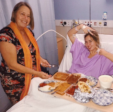With her mum following yet another surgical procedure.