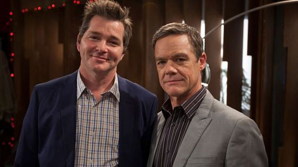 Darius Perkins (left) with Stefan Dennis (right)
