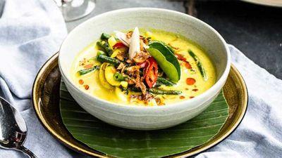 "<a href=""http://kitchen.nine.com.au/2016/07/20/13/21/bali-kenus-soup"" target=""_top"">Bali Kenus yellow curry seafood soup</a> recipe"