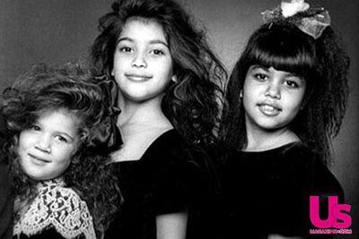 Back in 1987: A pre-fame Kourtney, Kim and Khloe Kardashian.