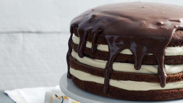 Chocolate layer fudge cake