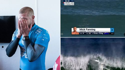What happened when Mick Fanning disappeared behind that wave