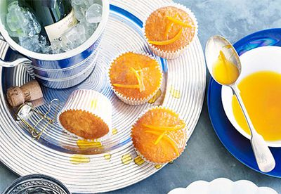 Orange cupcakes with burnt orange drizzle