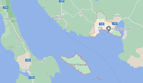 Local Croatian police said the woman, believed to be in her 60s, was found on the island of Krk.