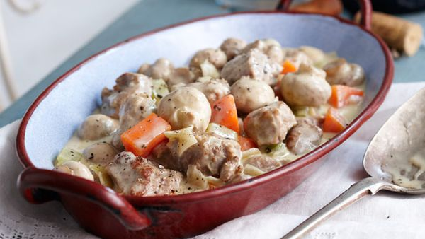 Blanquette de veau (Creamy veal stew)