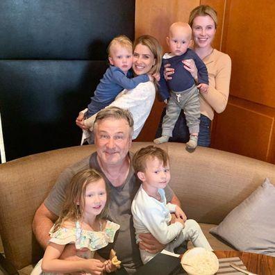 Alec Baldwin with his children.