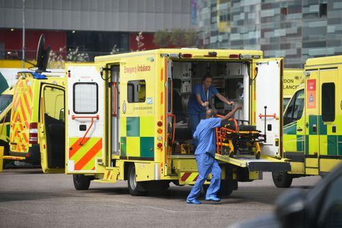 UK CORONAVIRUS DEATHS HOSPITALS