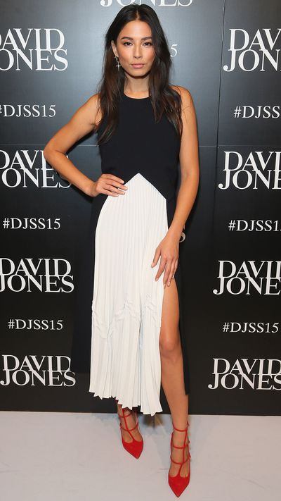 <p>Jessica Gomes in Christopher Esber</p>