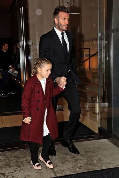 At just six-years-old Harper Beckham is already giving her mother Victoria a run for her money in the style stakes.<br> <br> VB's mini-me graced the front-row at her A/W' 18 show in NYC overnight clad in a bordeaux-coloured coat, white frock, mary-jane flats and boxer braids.<br> <br> The pint-size Rapunzel, who has become a regular fixture at her mum's fashion shows, is known for her fondness for Burberry capes, Hermes accessories, Stella McCartney separates and pig-tail plaits.<br> <br> If it was a challenge for the style set to fix their gaze beyond the genetically-blessed Beckham's -David, Harper, Romeo and Cruz- in the front-row we hope the sleek, sophisticated offerings from the designer's upcoming winter collection did the trick.<br> <br> The seams were loosened on the tight and tailored designs that have defined Victoria Beckham's 10-year tenure as a designer, with knitted hoodies, pleated pants and leopard-print coats making their way down the runway. <br> <br> Click through to see the highlights of Victoria Beckham's A/W'18 show.