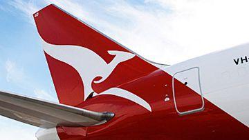 Qantas jet tail (AAP)