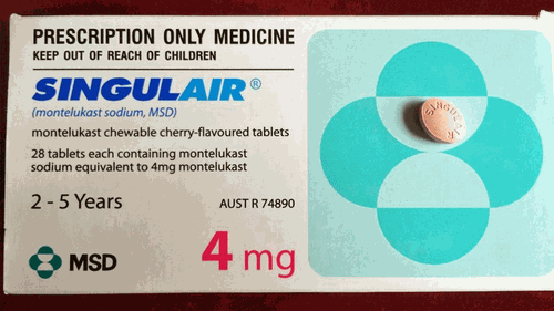 Singulair comes in chewable tablets which make them a popular choice for young children.
