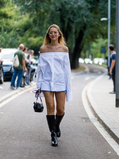 Chiara Ferragni outside Pucci, Milan Fashion Week