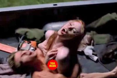 Jason (Ryan Kwanten) and Jessica (Deborah Ann Woll) had a quickie in the back of a pickup-truck...