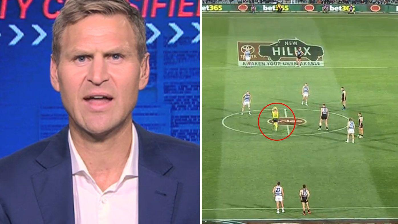 'Just scrap it': Kane Cornes urges AFL to scrap centre bounce after umpire's struggles
