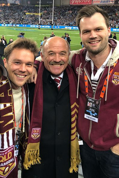 Lincoln Lewis, dad Wally Lewis, football game, NRL, State of Origin, 2018