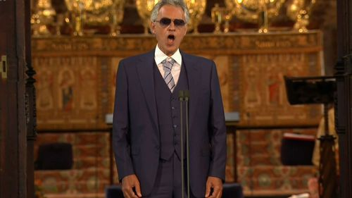 Italian tenor Andrea Bocelli.