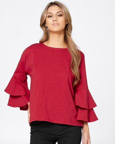 "<a href=""https://www.target.com.au/p/dannii-minogue-petites-tier-sleeve-knit-top/61197992"" target=""_blank"" title=""Dannii MinoguePetites Tier Sleeve Knit Top"">Dannii Minogue Petites Tier Sleeve Knit Top</a>, $30"