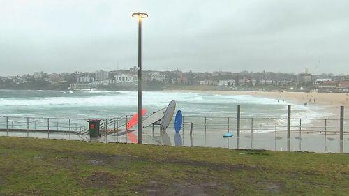 Wild surf at Sydney's Bondi Beach.